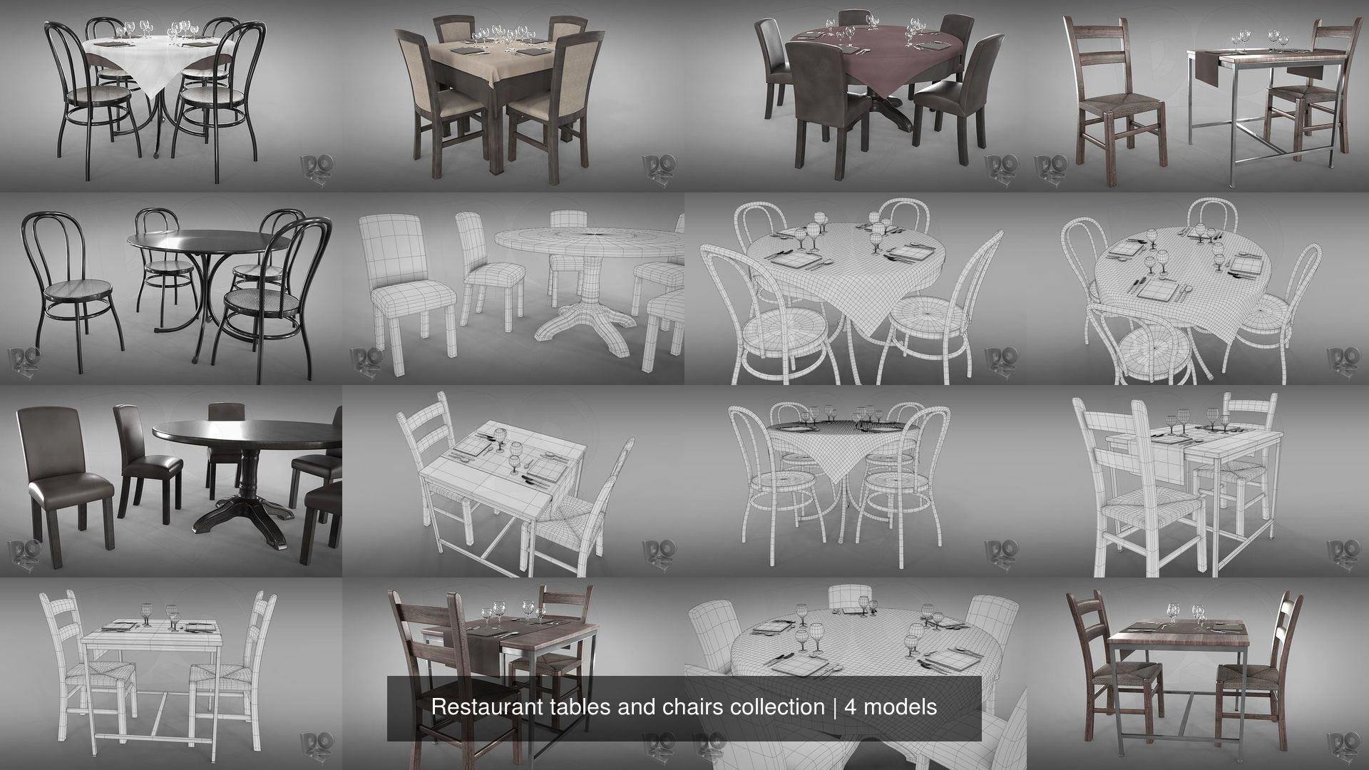 Restaurant tables and chairs collection