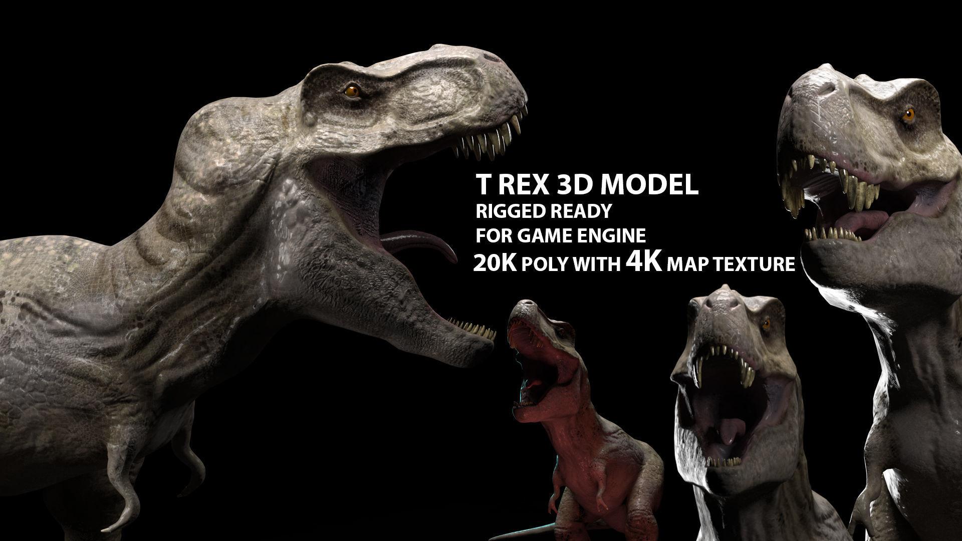 Trex dinosaur game model Tyrannosaurus