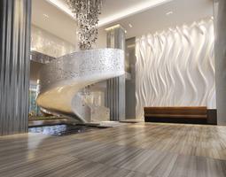 Hall Lobby 3D model lobby