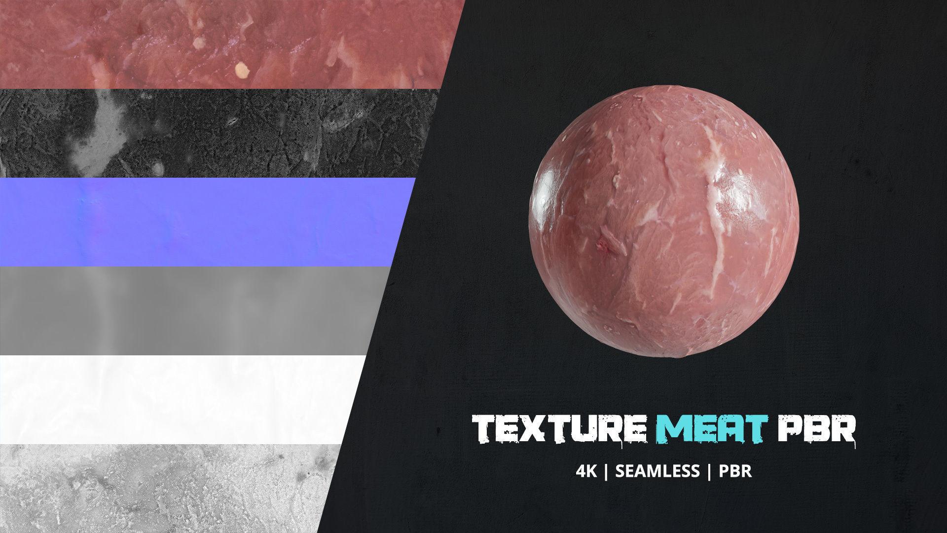 Texture Raw Meat 4k Pbr - 16bit - 03