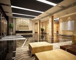Lobby Hall 3D office-interior
