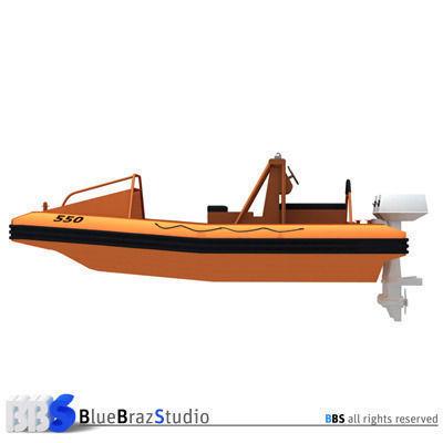 rescue boat 01 3d model obj mtl 3ds c4d dxf 1