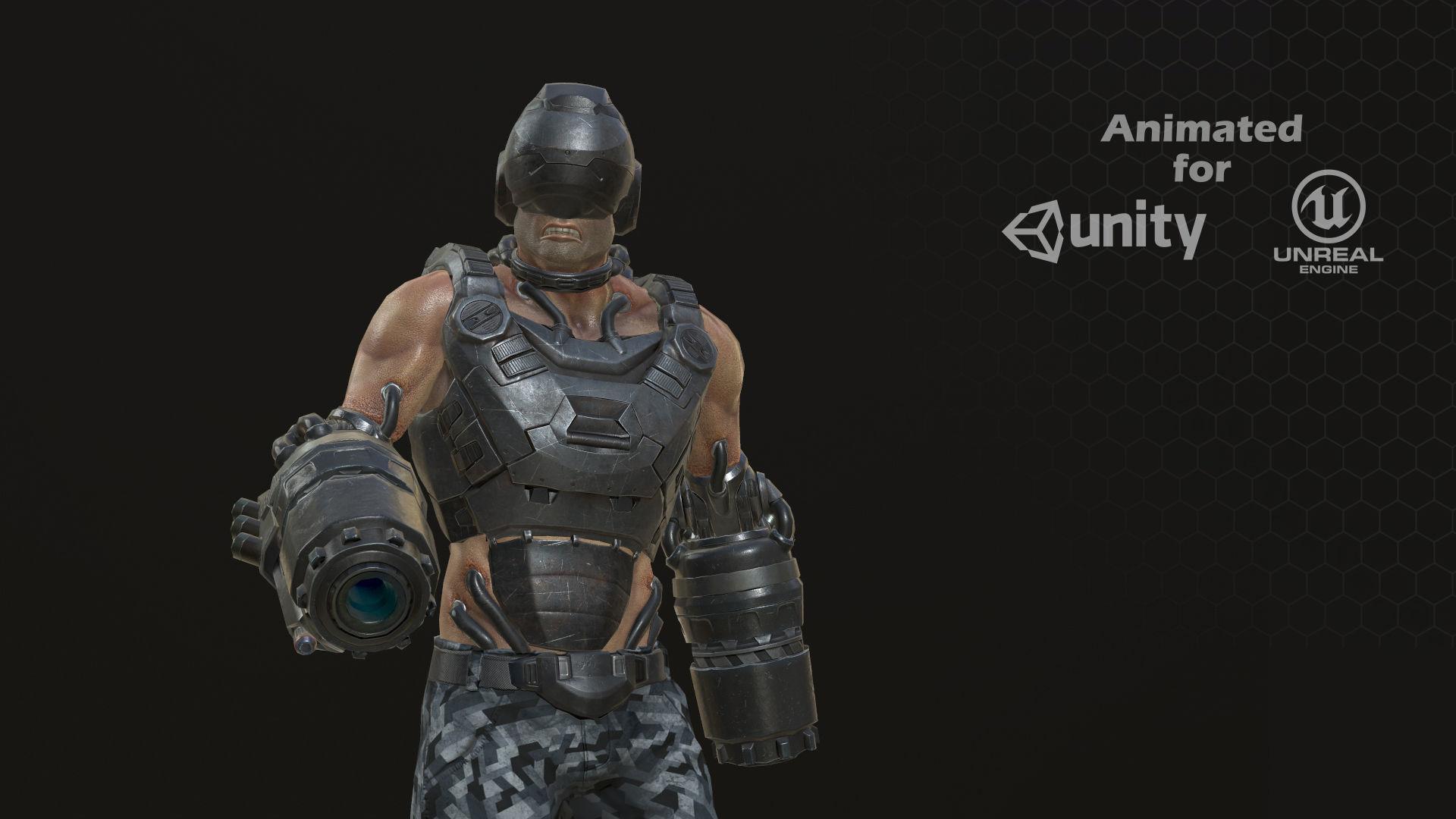 Sci Fi Soldier kamikaze
