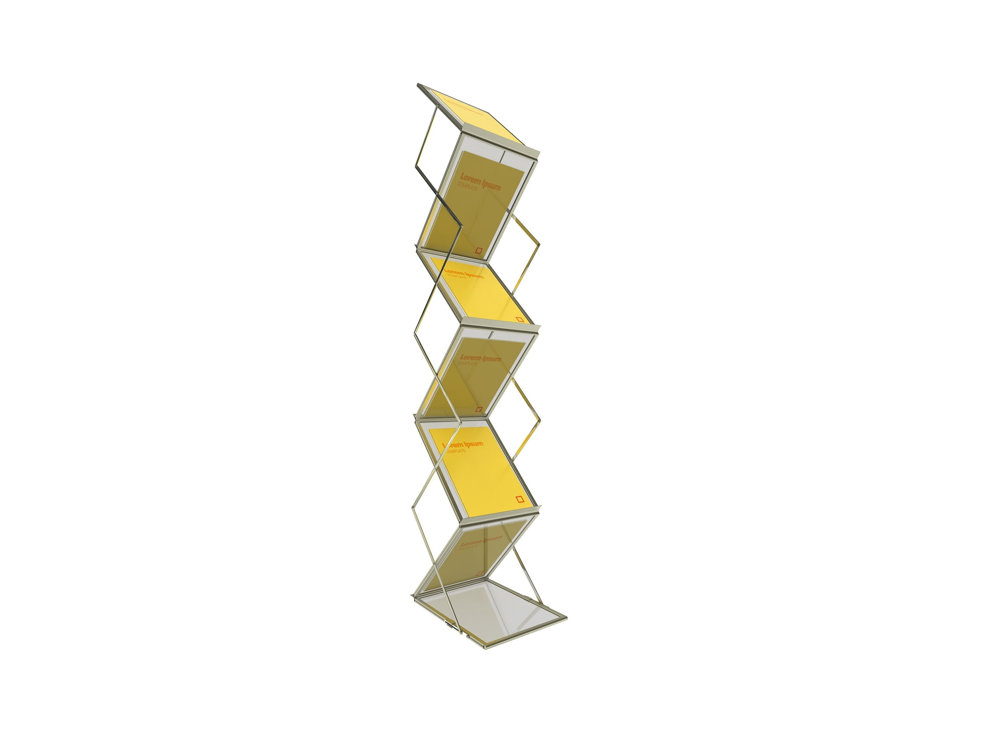 Folding Cross Catalogue Stand
