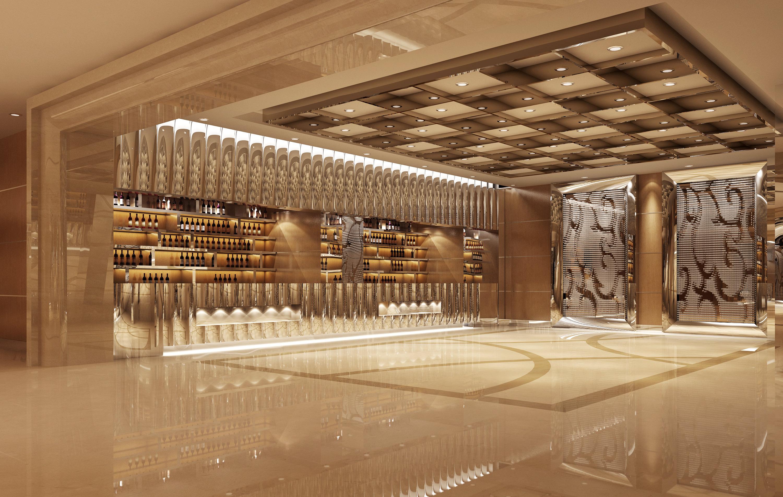 Luxury Bar Interior 3d Model Max