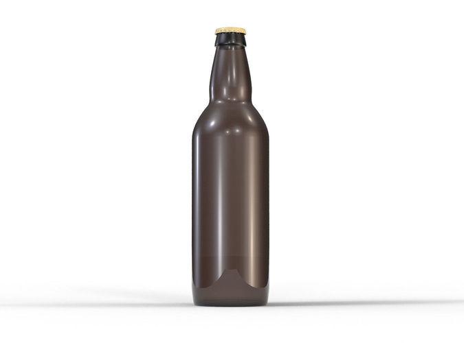 beer bottle 3d model max obj mtl 3ds fbx stl 1