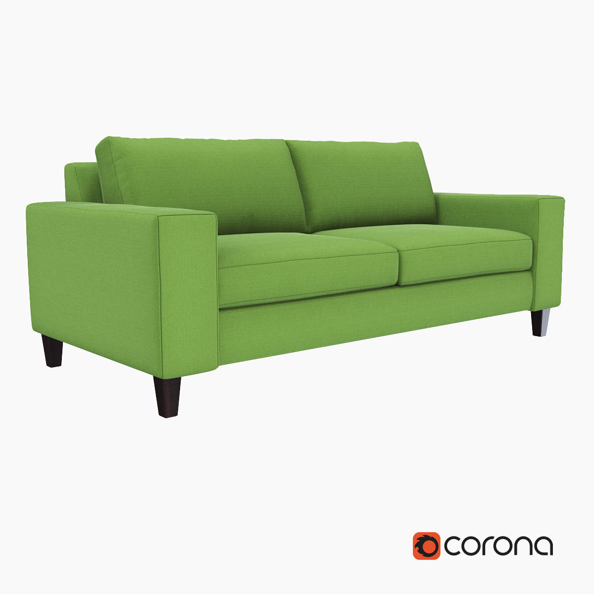 West Elm York Sofa 3d Model Max Obj Fbx Mtl 1 ...