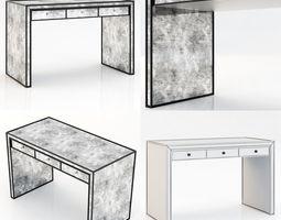 restoration hardware strand mirrored desk 3d