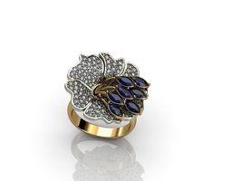 Flower Rings 01 3D print model