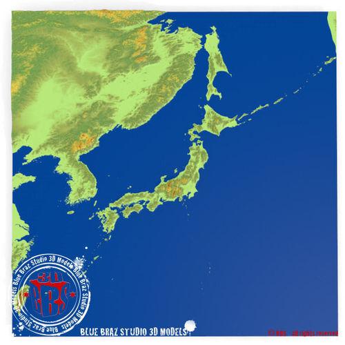Japan Elevation D Model CGTrader - Japan elevation map