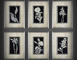 Picture Frames 3D model decoration