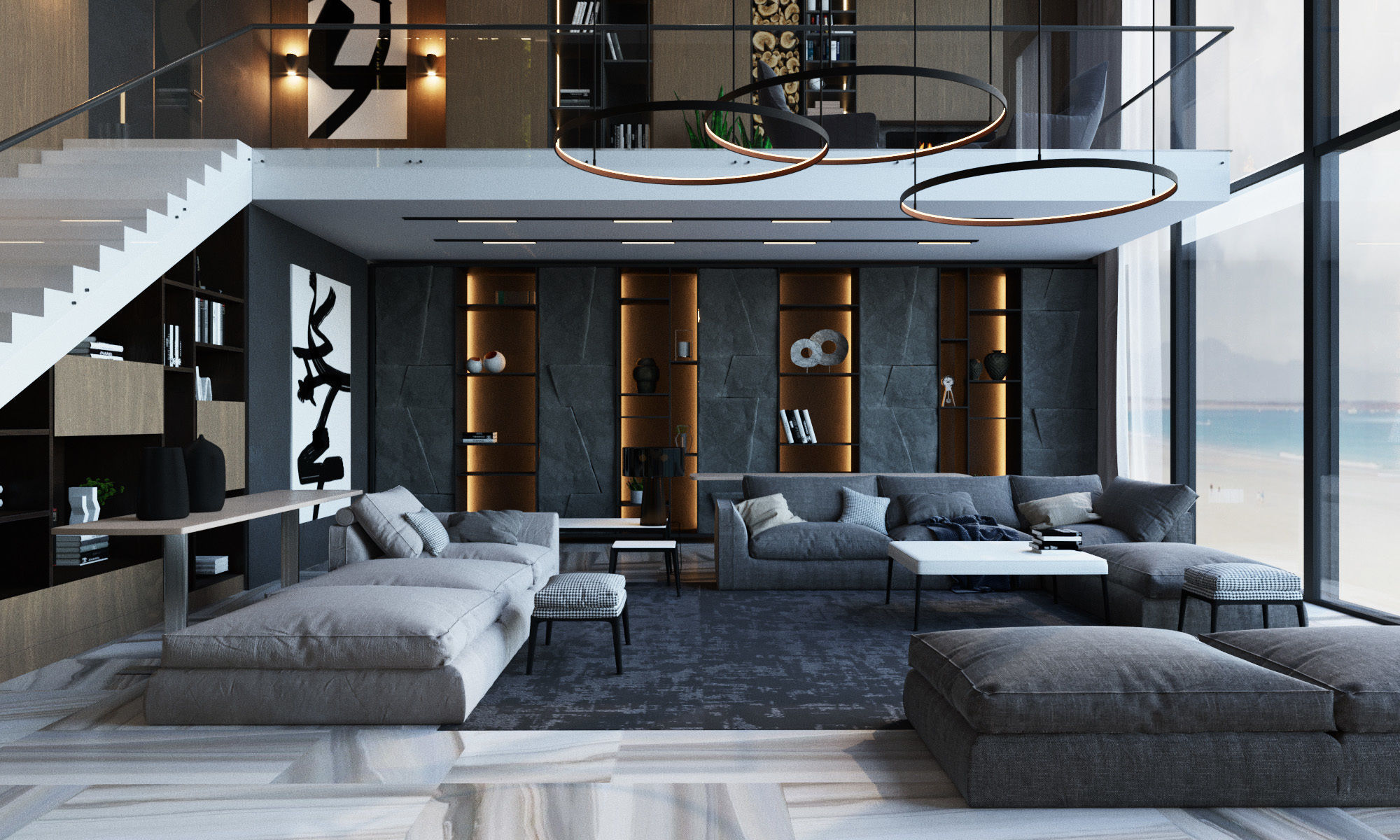 Living room in a modern style