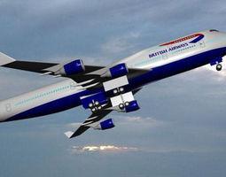 3d british airways 747 - 400
