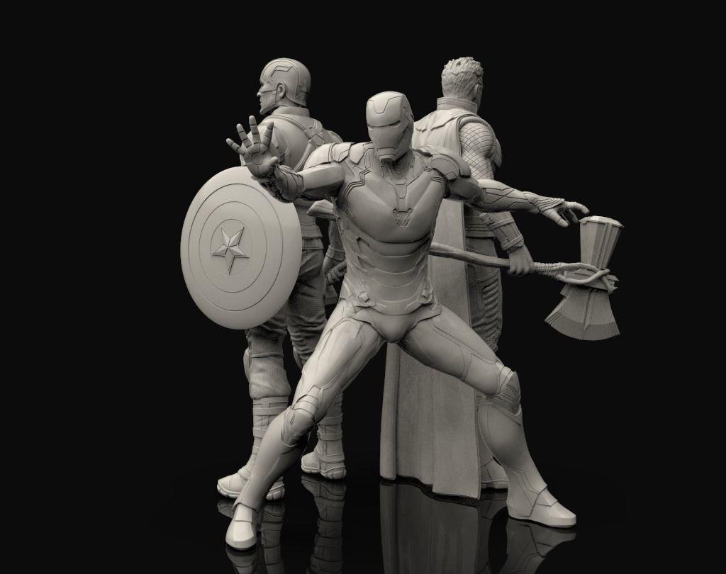 Avengers Statues Bundle