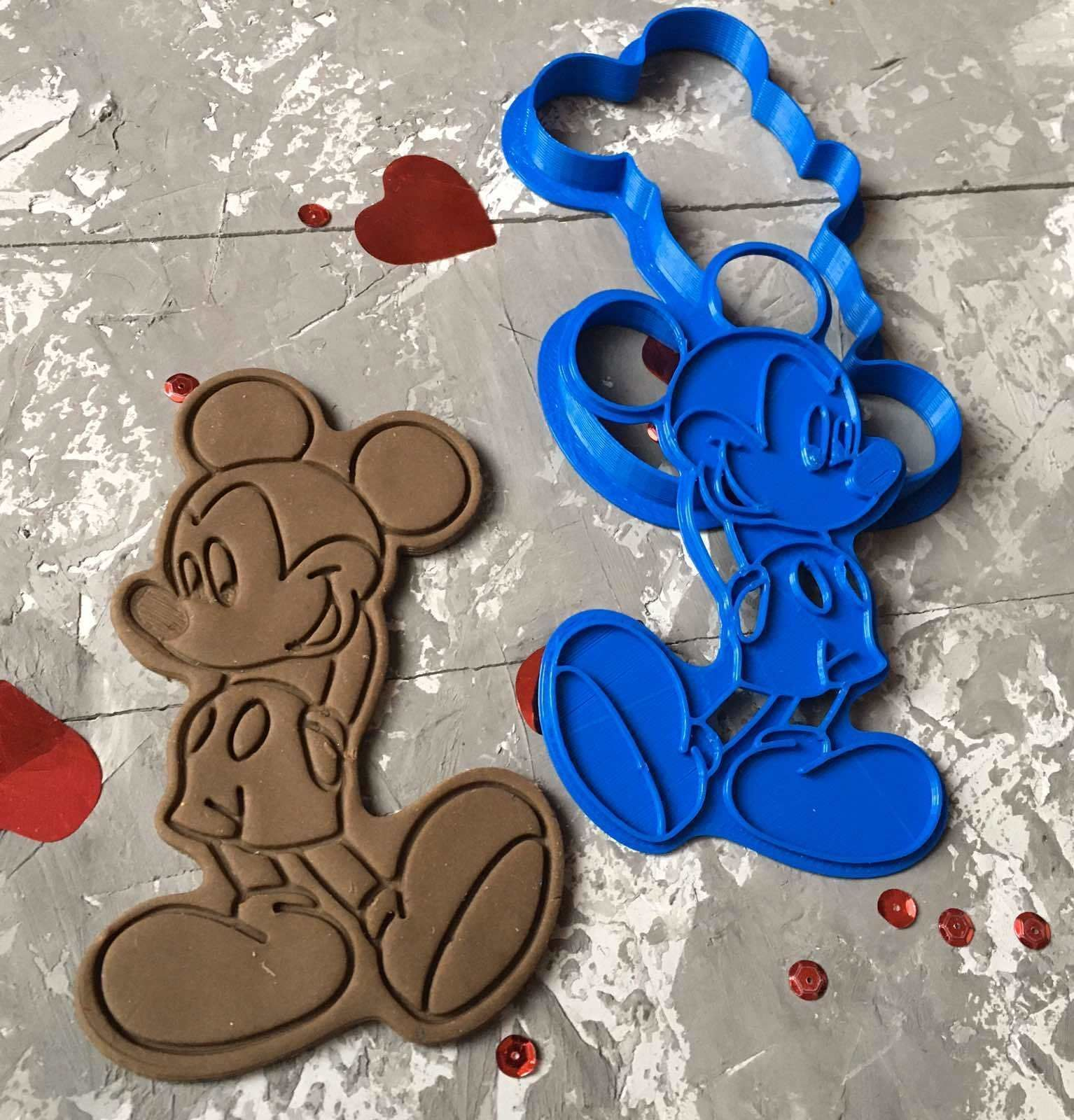 MICKY MOUSE Cookie Cutter 3D print model 3D print model