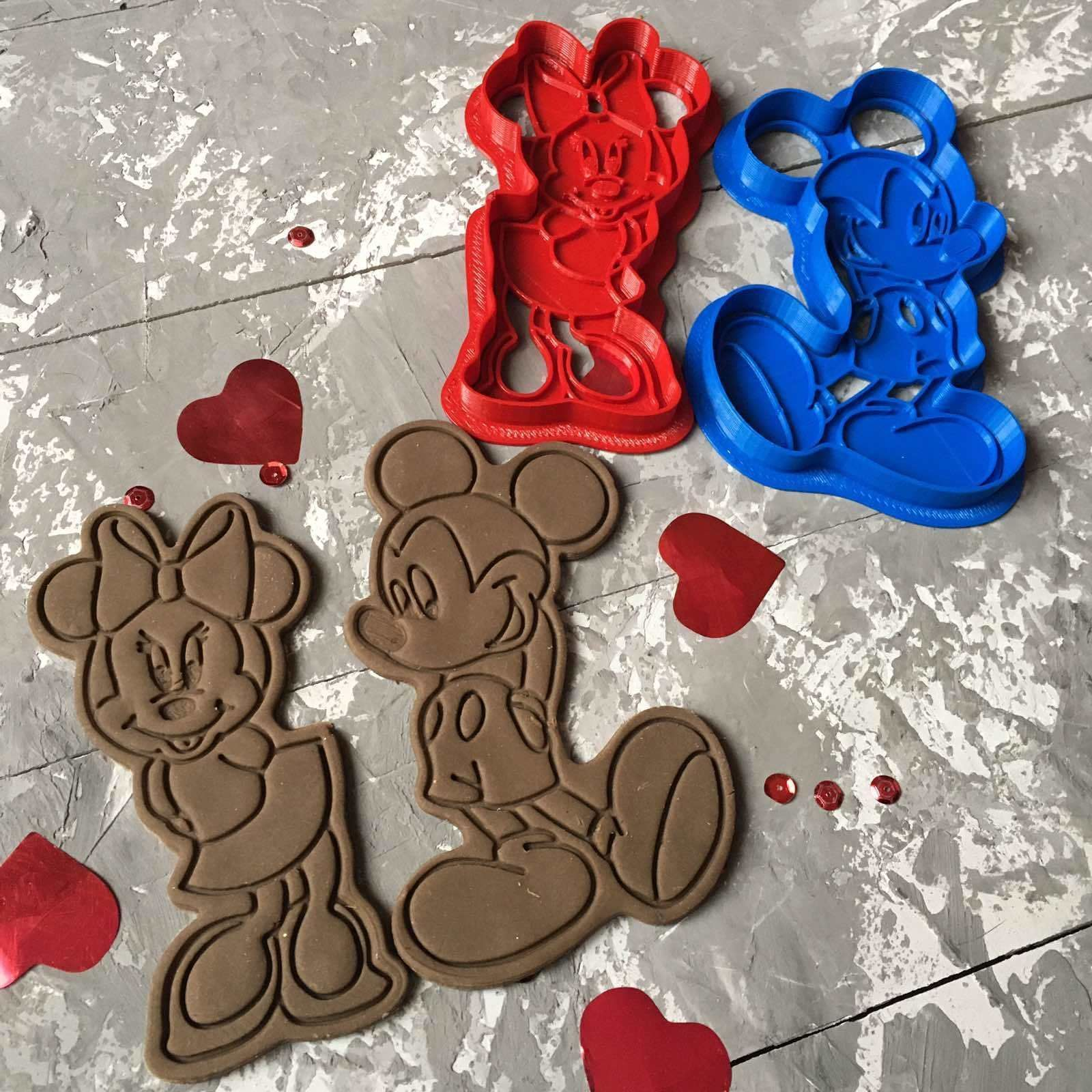 Minnie Mouse and Micky Mouse Cookie Cutter 3D print model