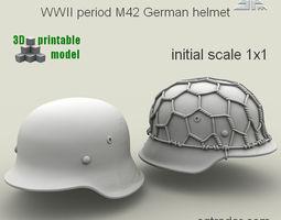 3d printable model spm-002-m42-01print  wwii period m42 german helmet