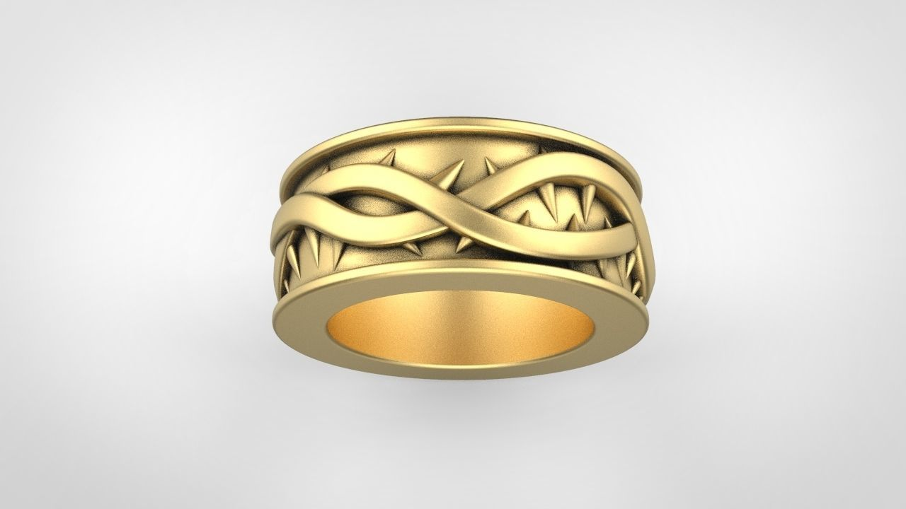 wedding ring with thorn