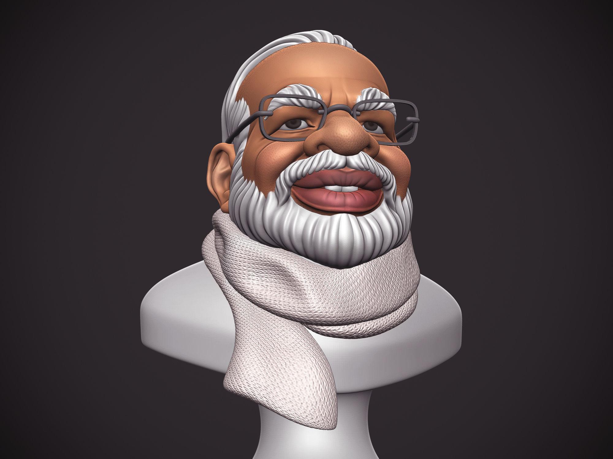PM Modi Cartoon Bust