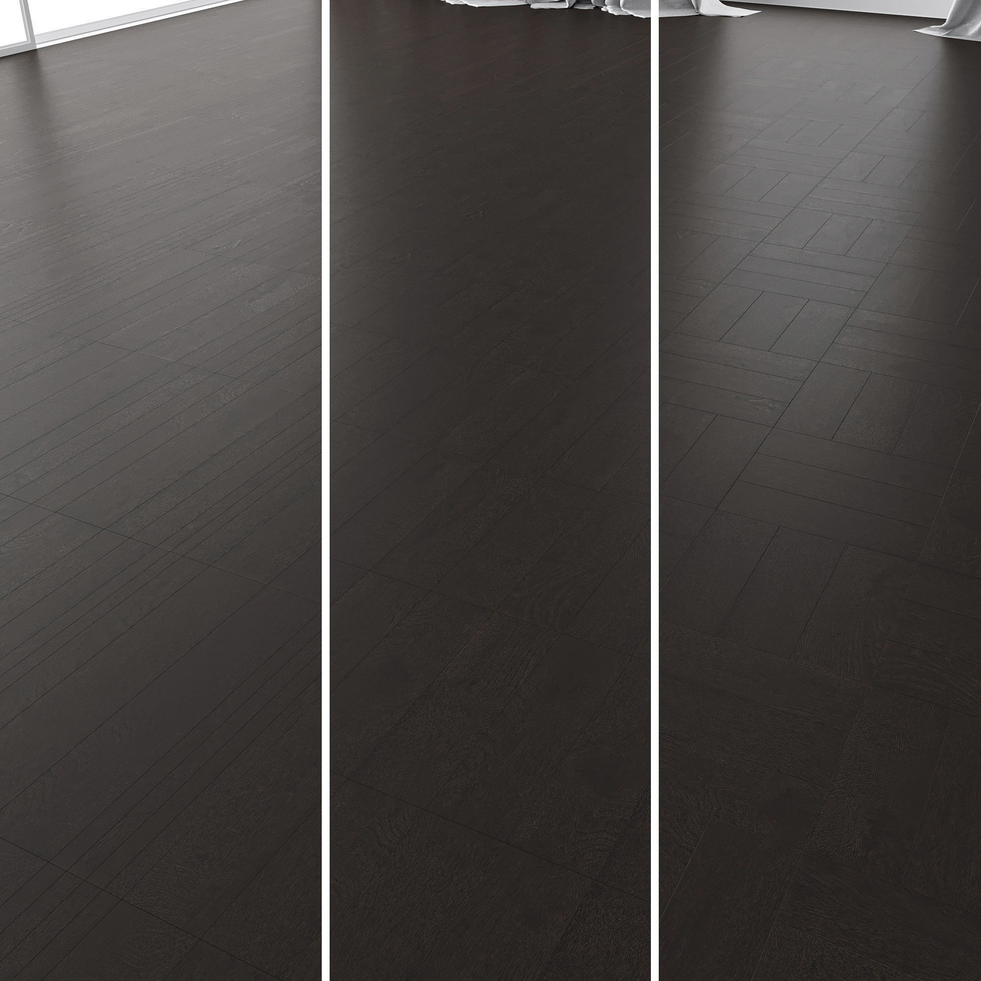 Parquet Oak Black WWL set 3