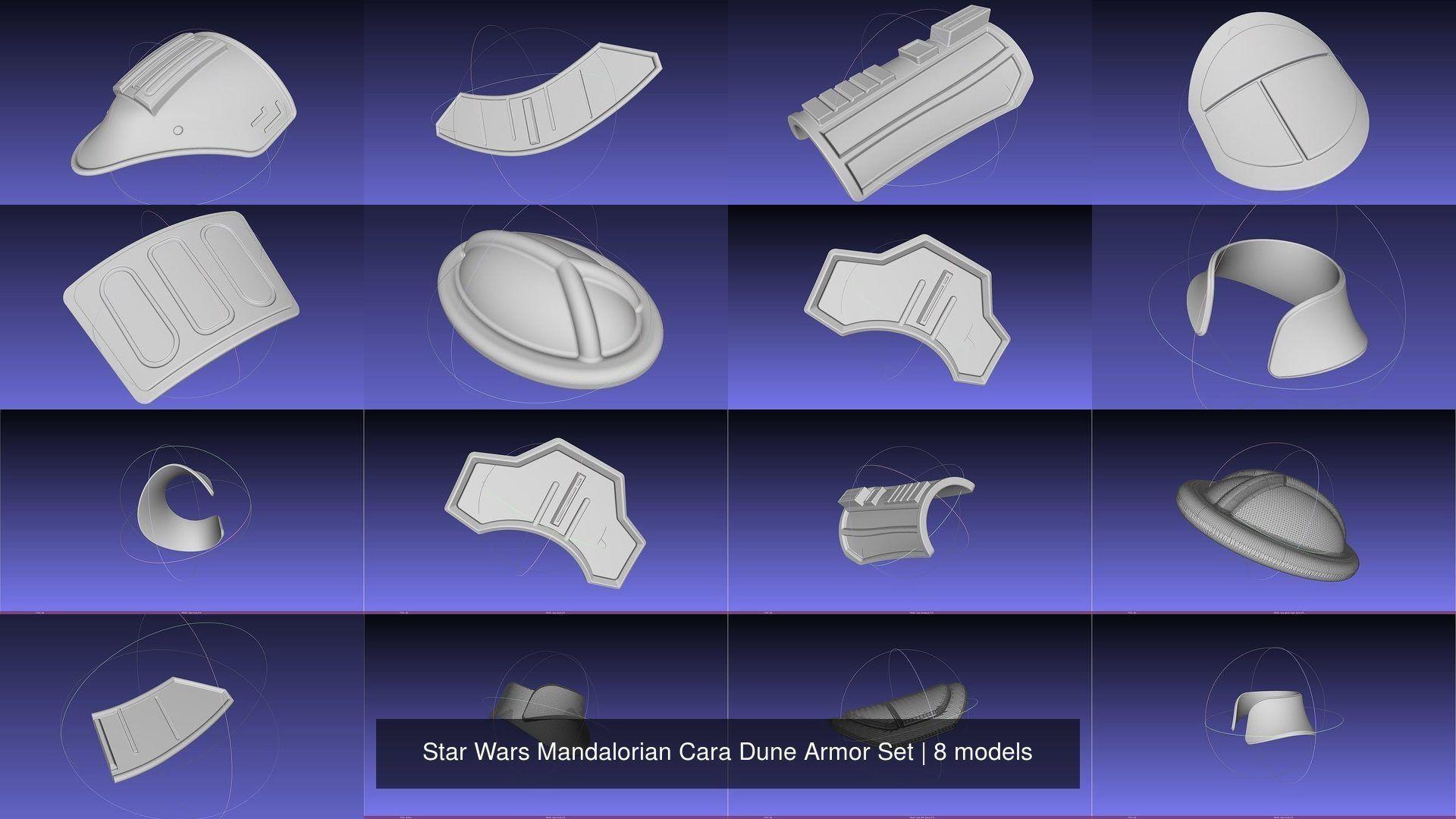 Star Wars Mandalorian Cara Dune Armor Set