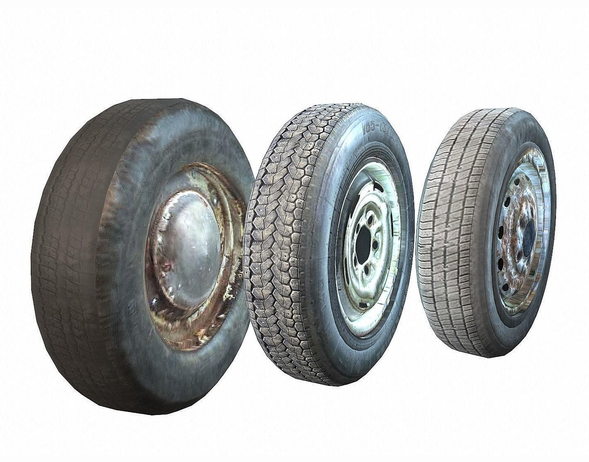 Retro automobile wheels pack
