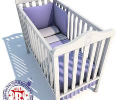 Baby crib 01 3D Model