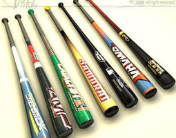 baseball bat collection 3D Model