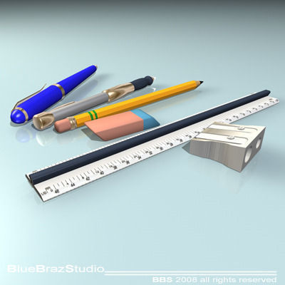 pens 3d model obj mtl 3ds c4d dxf 1