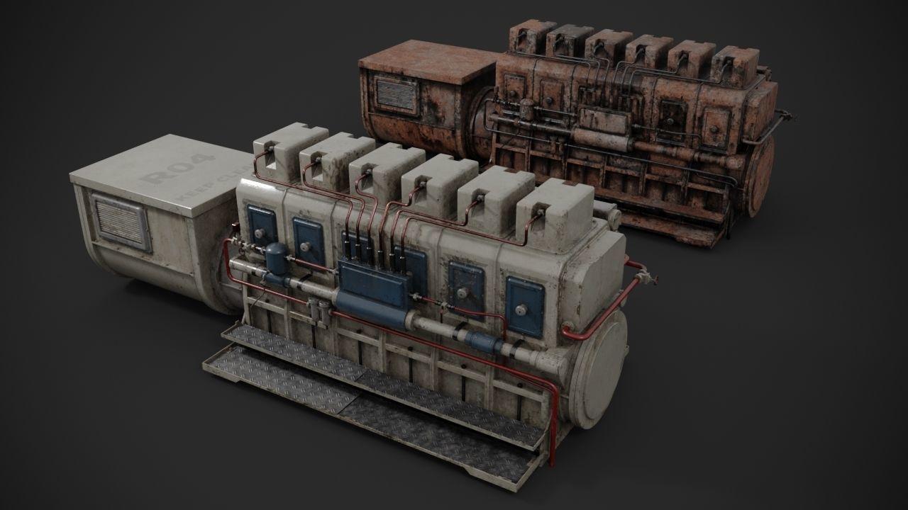 Industrial diesel-generator