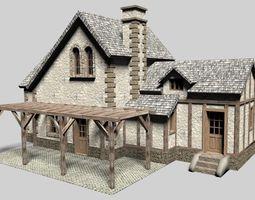 Old cottage house 3D