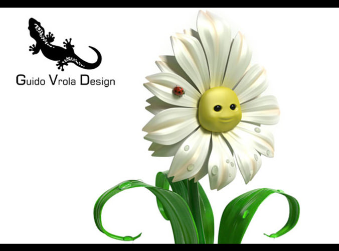 Cartoon Daisy3D model