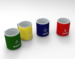 3D model Cups set Elements