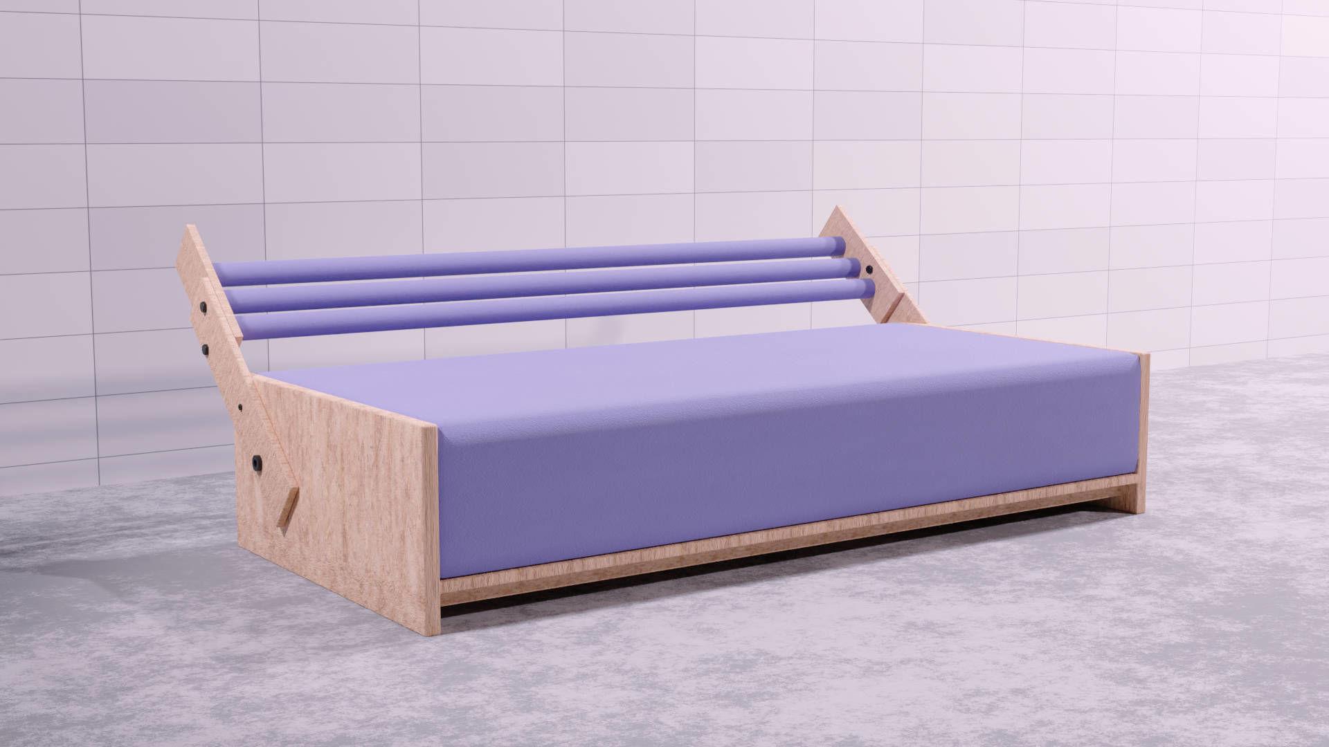 3d Sofa Bed Diy Cgtrader