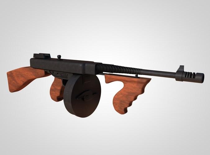 6c948067ec2a 3d model Thompson submachine gun 1921