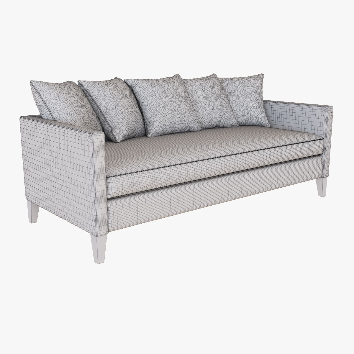 West Elm Dunham DownFilled Sofa Toss Back 3D model MAX OBJ FBX MTL