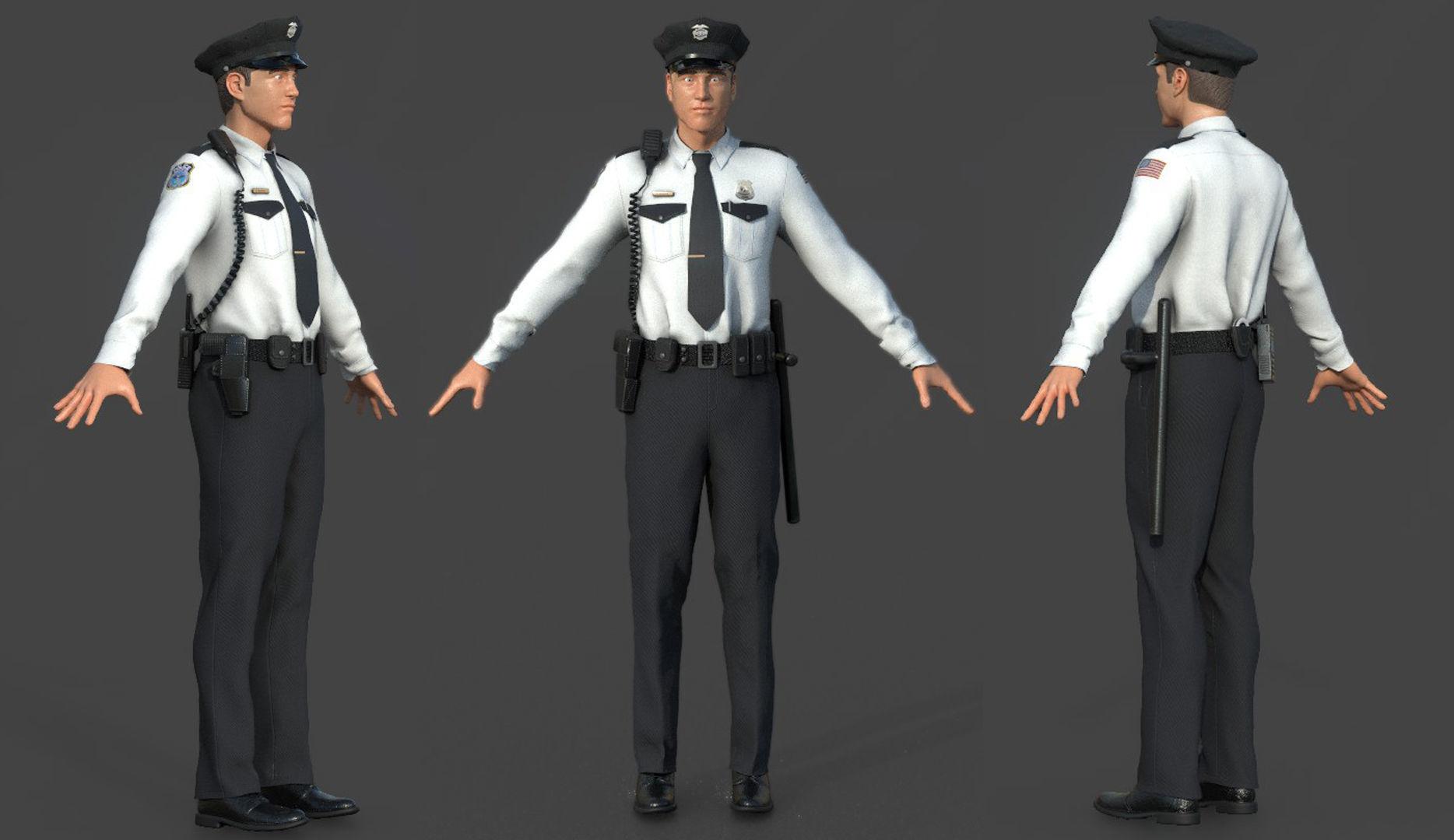 POLICE OFFICER white