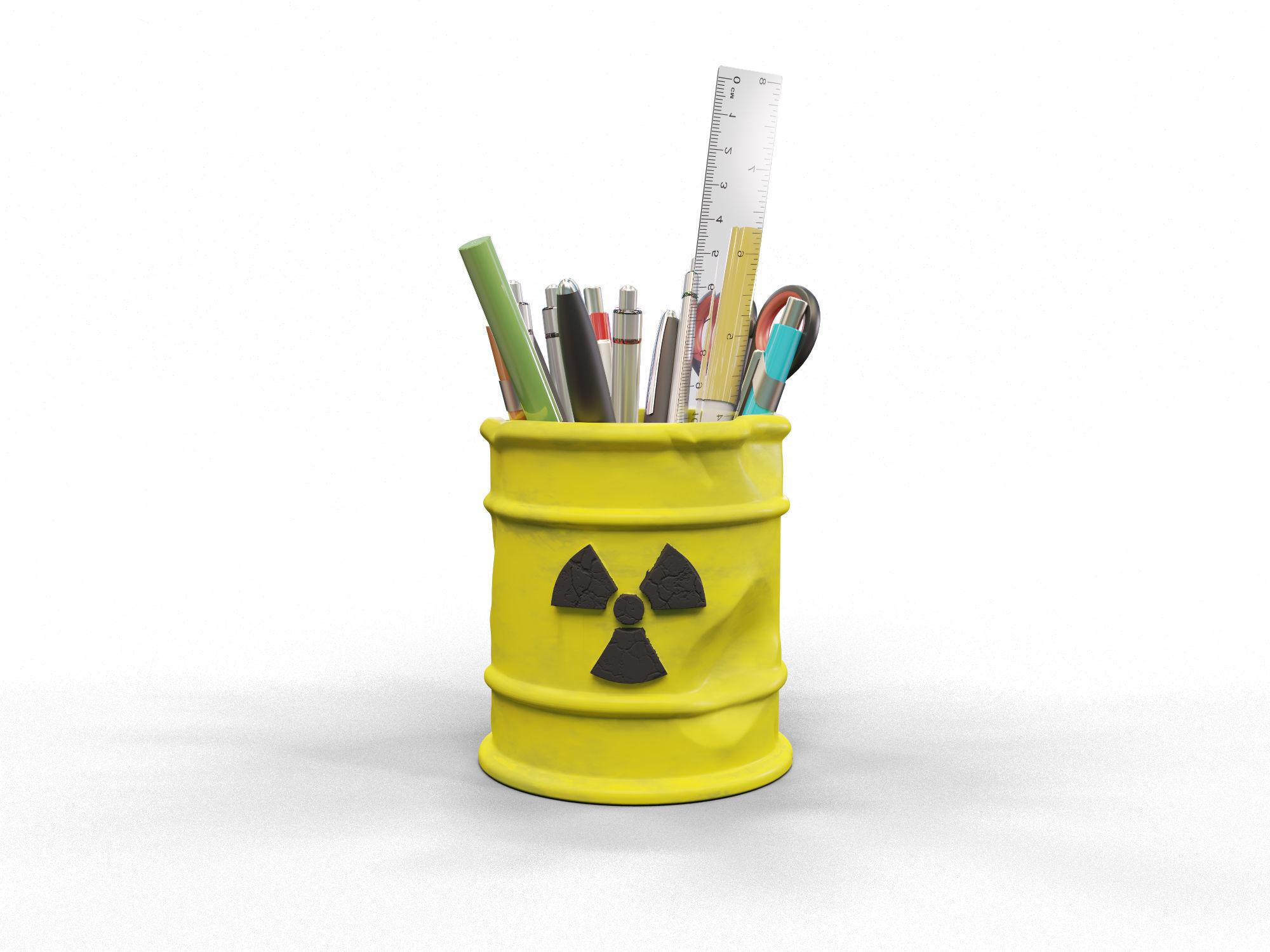 Radioactive pencil holder