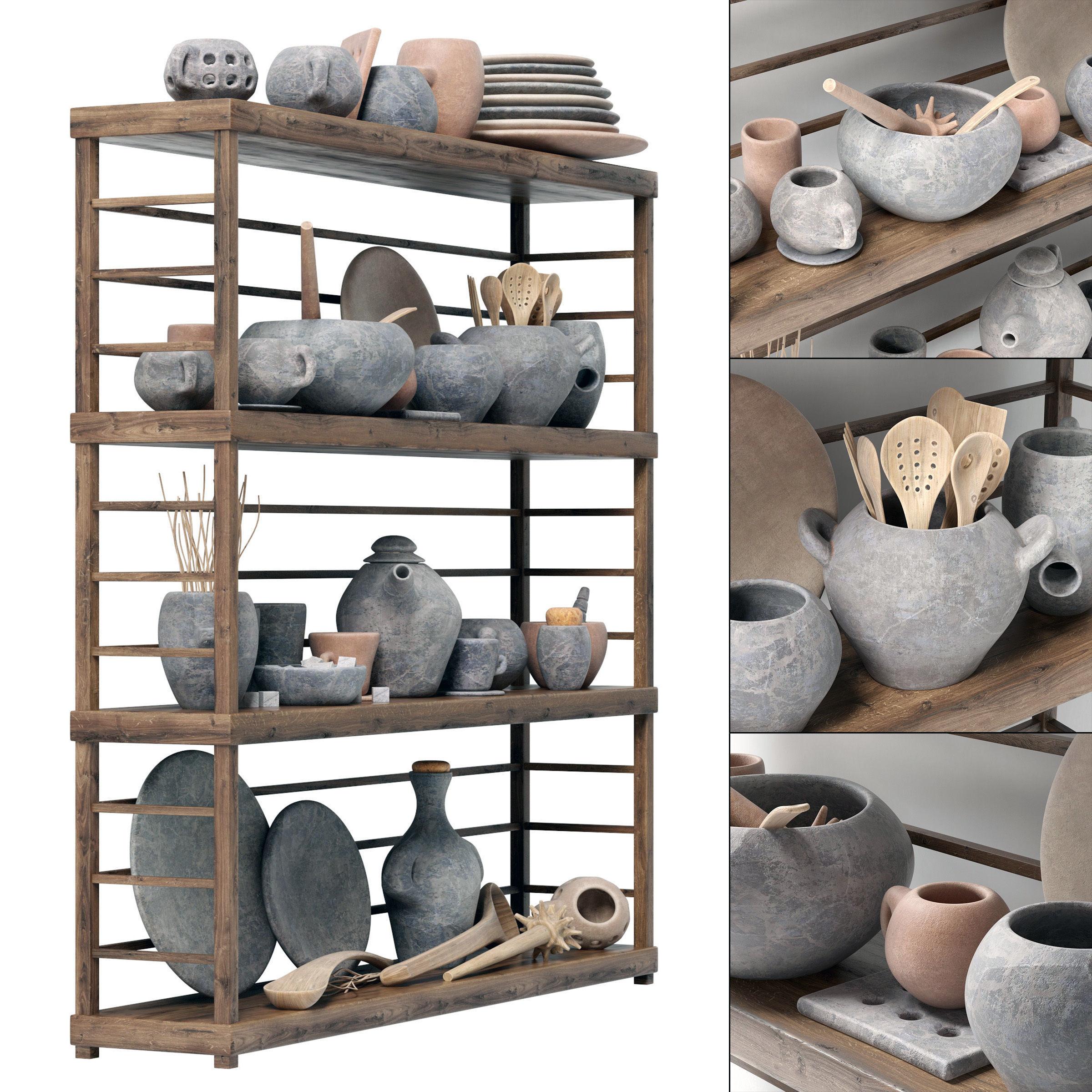Dishes clay rack n4