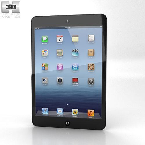 apple ipad mini cellular 3d model low-poly max obj mtl 3ds fbx c4d lwo lw lws 1