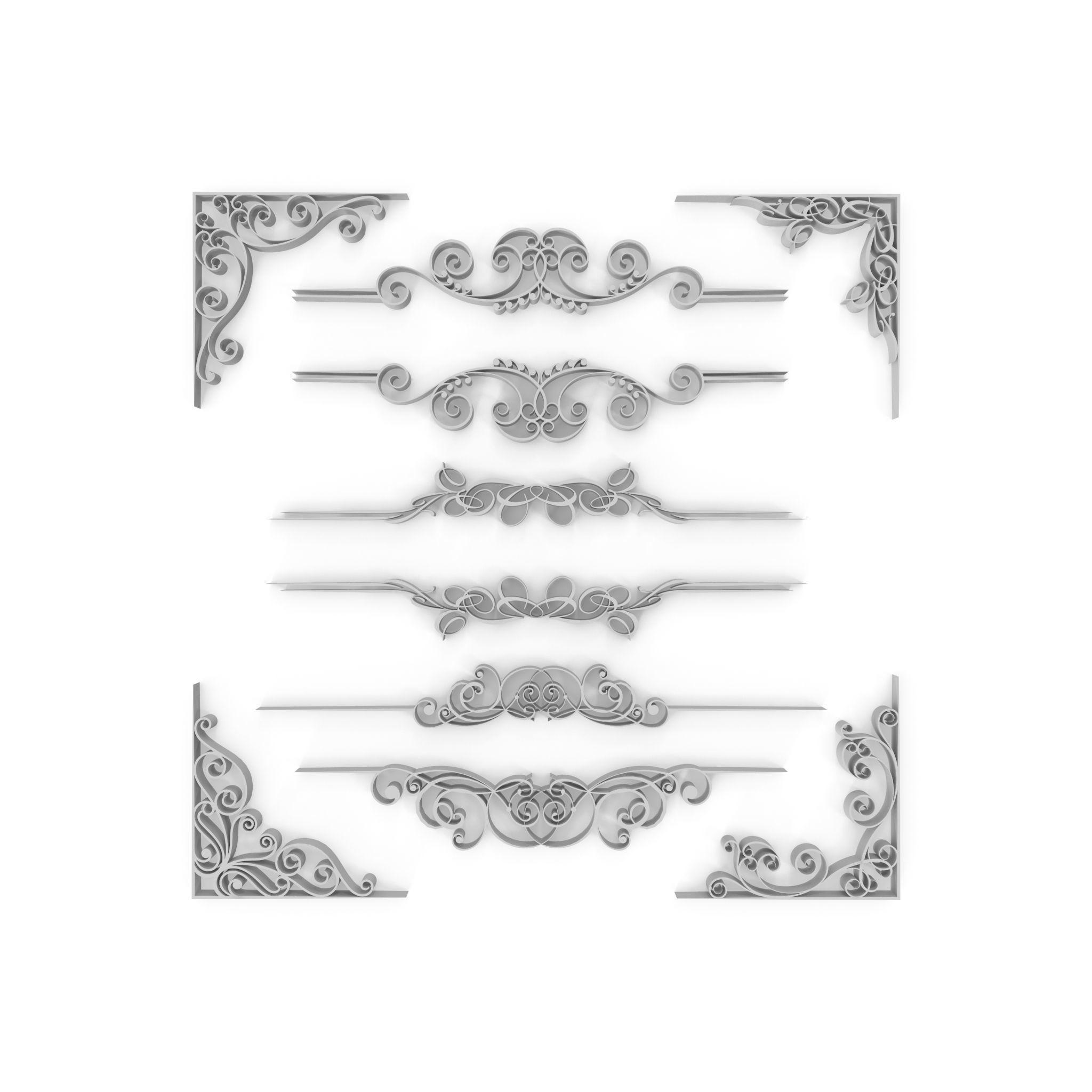 Ornate Swirls 02 Set