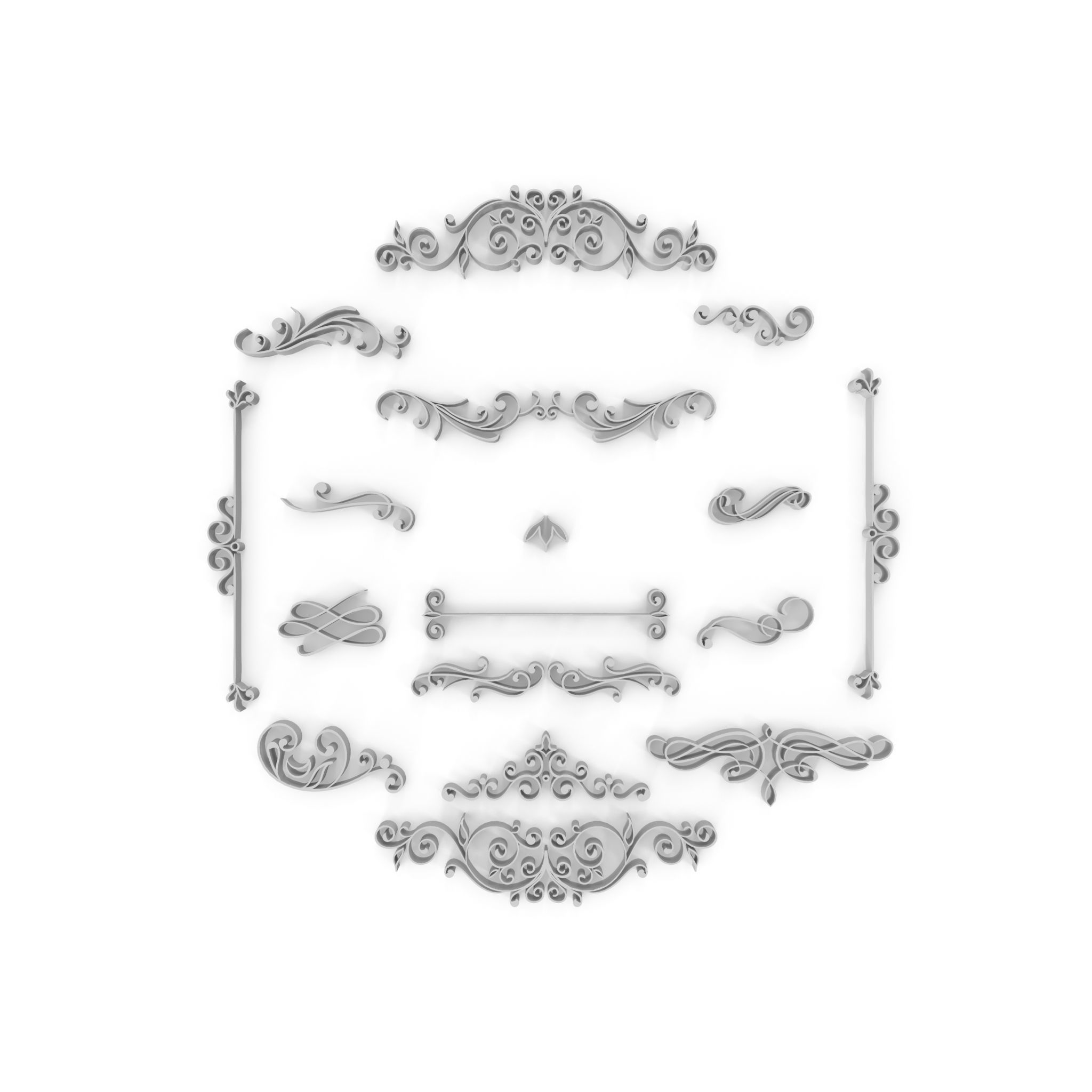 Ornate Swirls 03 Set