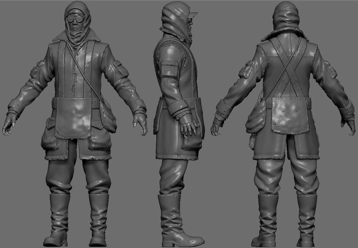 Wastelander zbrush free 3d model game ready ztl Free 3d