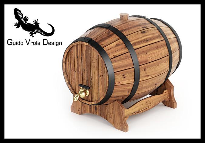 Wine barrel3D model