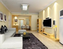 Modern stylish home kitchen living room bedroom dining rooms anteroom corridor study full model  239 3D Model