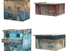 realtime rigged shanty town buildings 2 3d model