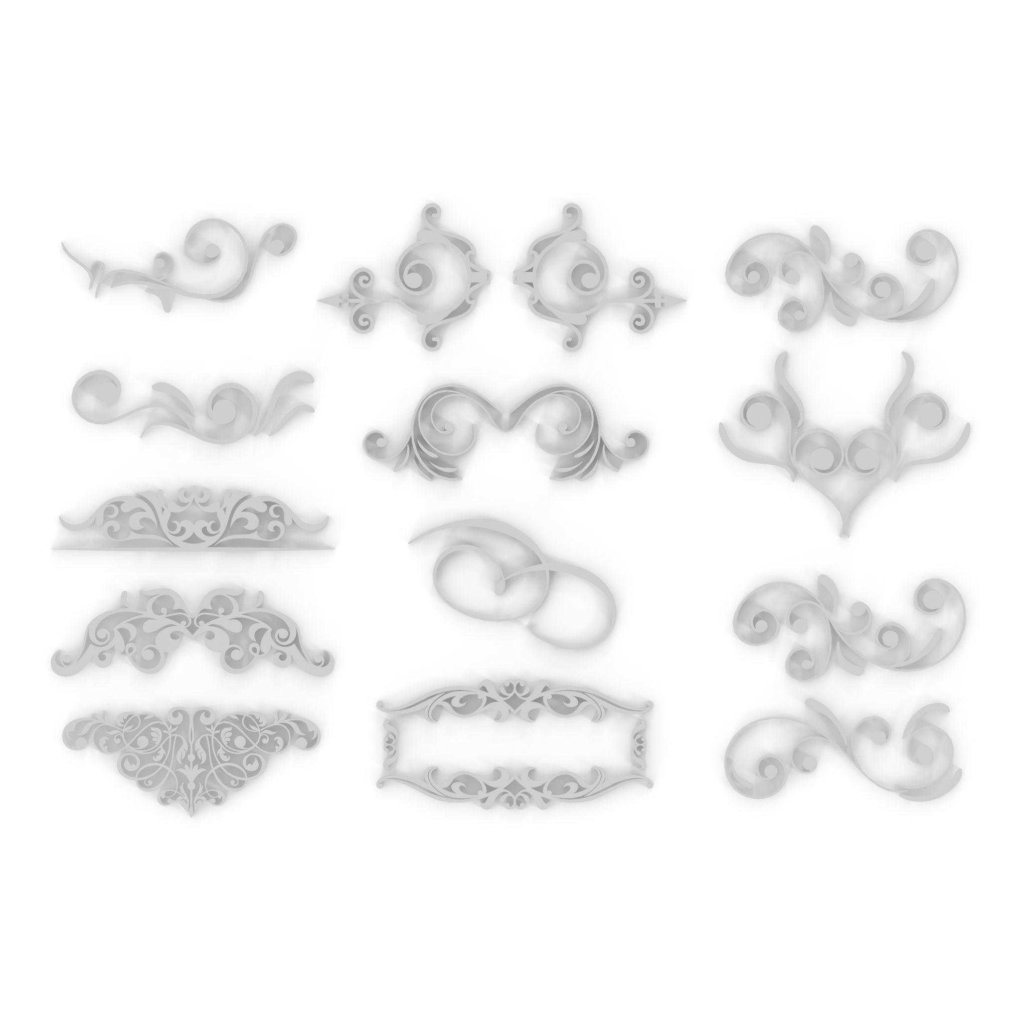 Ornate Swirls 04 Set