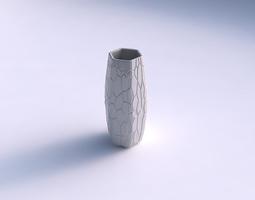 3d printable model vase hexagon with organic cells
