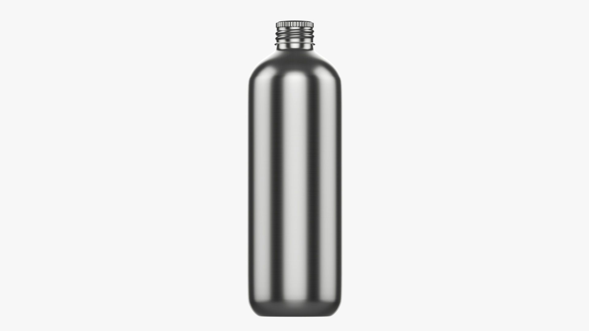Bottle with cap metal large