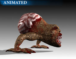 Brain Monster 3D Model